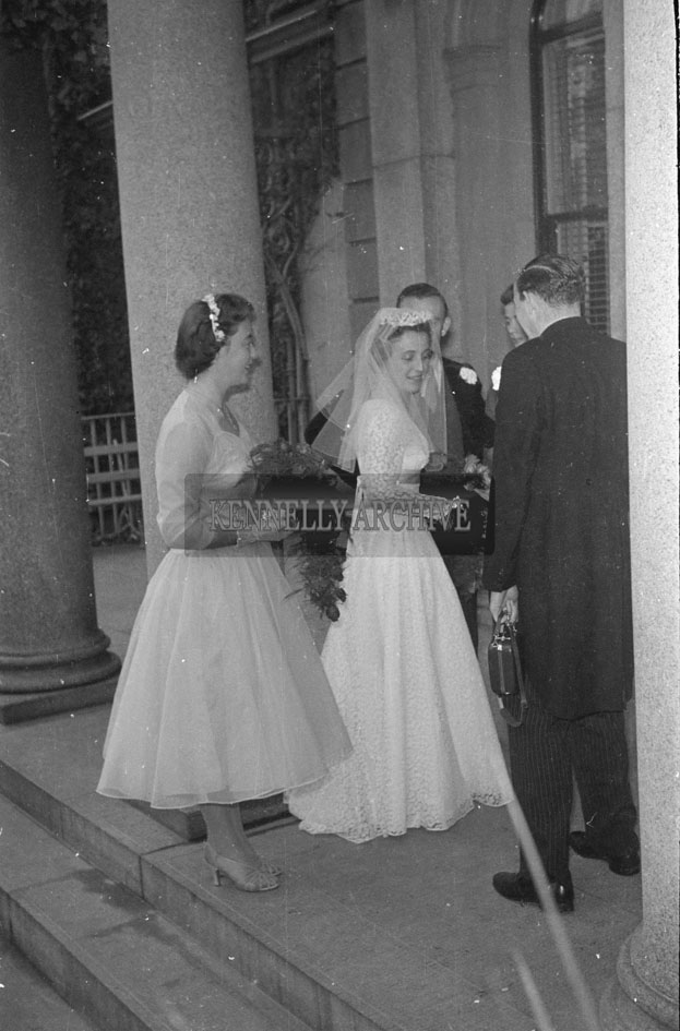 September 1957; A photo taken at a wedding reception in the Great Southern Hotel, Killarney.