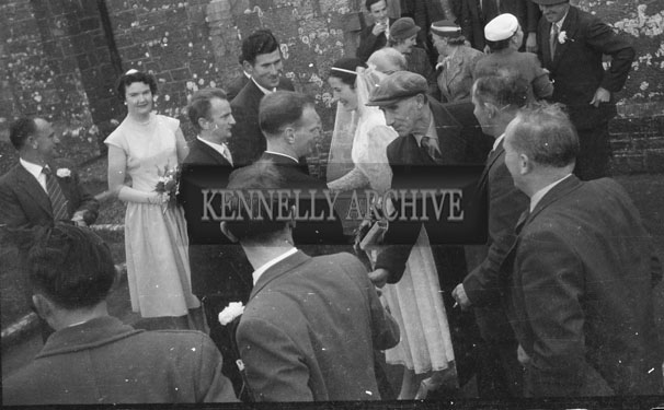 October 1957; A photo taken at a wedding in Churchill.