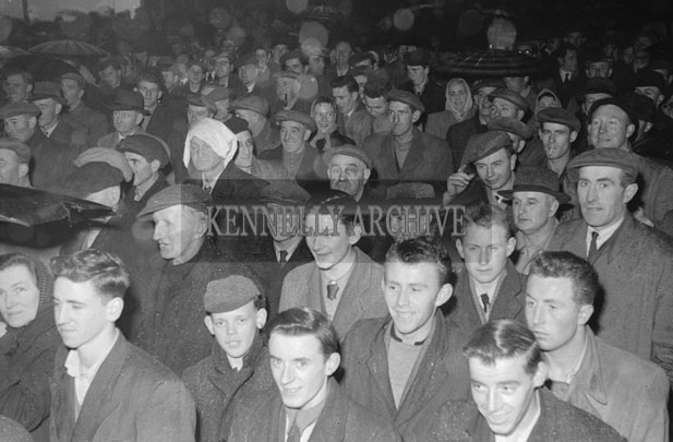 2nd March 1957; A photo taken at an Election Rally for Dail Candidate Charlie Lenihan.