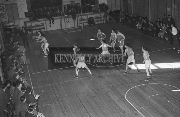 10th March 1957; A photo of the Basketball Blitz in The CYMS Tralee.