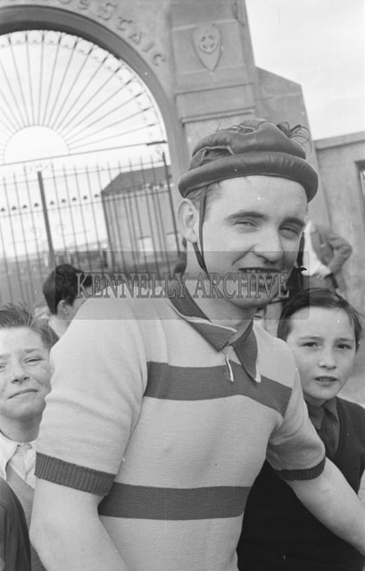 17th March 1957; A photo of cyclist Johnny Landers at the Tralee/Spa Cycling Race.