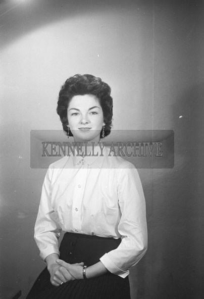 March 1957; A photo of a woman, taken in the studio.