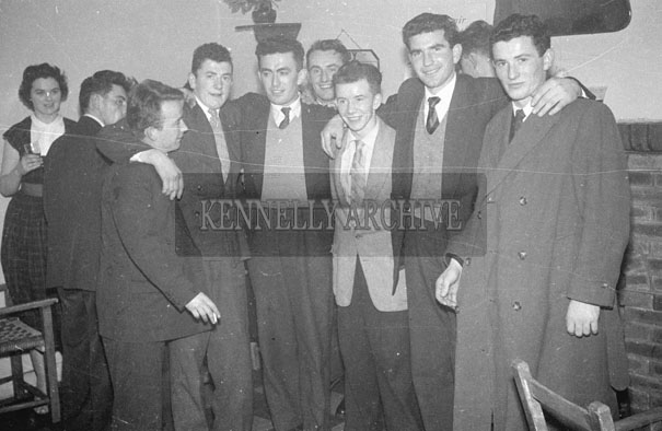 December 1957; People enjoying themselves at the Kerins O'Rahillys Dance to celebrate winning the Senior County Football Championship in the Meadowlands Hotel, Tralee.