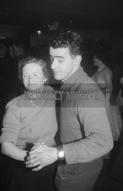 December 1957; A couple dancing at the Kerins O'Rahillys Dance to celebrate winning the Senior County Football Championship in Meadowlands Hotel, Tralee.