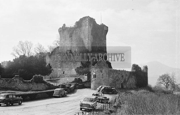 April 1957; A photo of Ross Castle, Killarney.