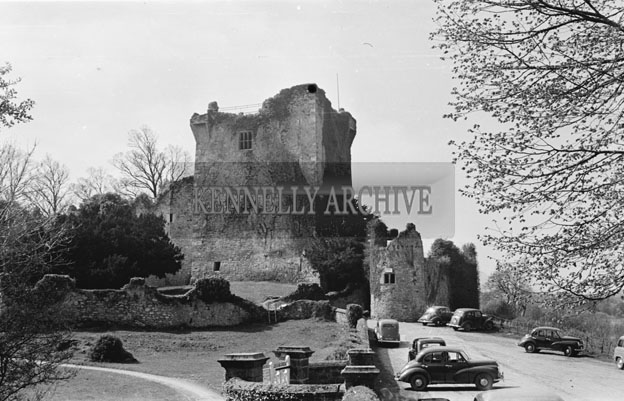 April 1957; A photo of Ross Castle, Killarney.