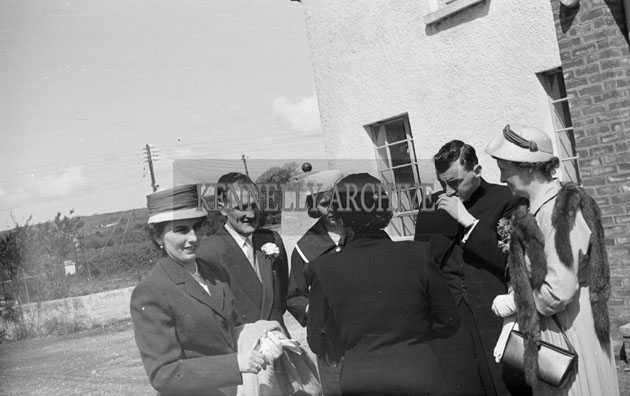 April 1957; A Photo taken at the wedding reception of Miss Florrie Johnson, Castlecountess and Mr. Robinson in The Meadowlands Hotel, Tralee.