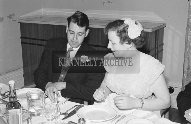 April 1957; A photo taken at Ulick O'Sullivan's wedding reception in The Great Southern Hotel, Killarney.