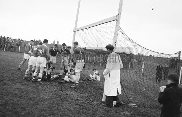 20th October 1957; A photo taken at the Senior County Football Final when Kerins O'Rahillys defeated St. Brendans 1-11 to 3-1.