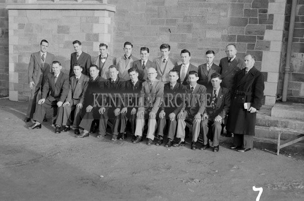 December 1957; A photo of a choir taken at the reconsecration ceremony of St. John's Church, Tralee.