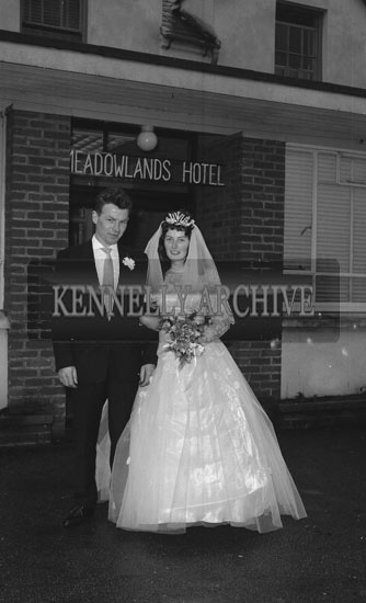 January 1962; A photo taken at a wedding reception which took place at the Meadowlands Hotel in Tralee.