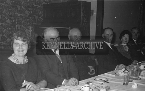January 1962; Members of the Irish Creamery Milk Suppliers Association at the Third Annual Dinner and Social of the North Kerry Area which was held at the Hotel Manhattan.