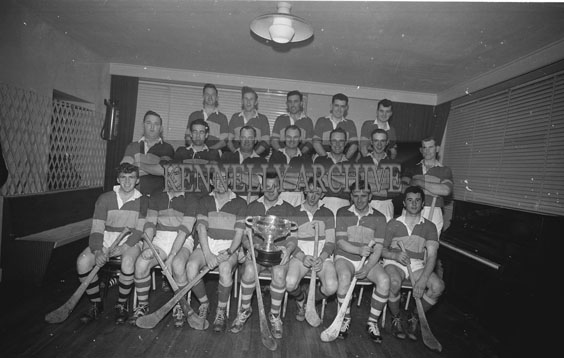 15th January 1962; Members of the Kerry Junior Hurling Team were presented with the All-Ireland Hurling Trophy at a victory banquet which was held in their honour at the Meadowlands Hotel in Tralee.