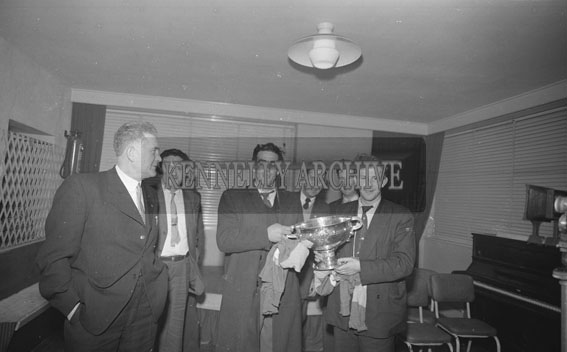 15th January 1962; A photo taken at the Victory Banquet for the Kerry Junior Hurling Team who were presented with the All-Ireland Hurling Trophy at the Meadowlands Hotel in Tralee.