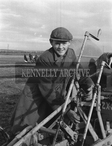 17th January 1962; A photo taken at a ploughing match which took place in Abbeydorney.