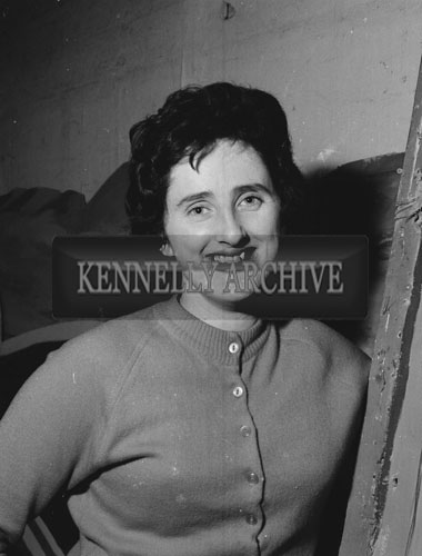 7th February 1962; A member of the Tralee Light Opera Society at a rehearsal of the musical 'Showboat' at the CYMS in Tralee.