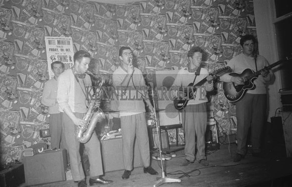 17th October 1962; The Swing Commandos performing at a dance in the Hotel Manhattan.