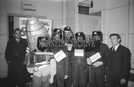 14th January 1962: People in fancy dress at a dance which took place at the CYMS in Tralee. Music at the dance was provided by Denis Cronin and his band.
