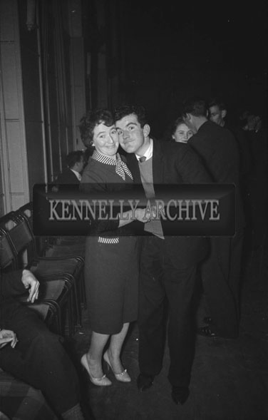 14th January 1962: People enjoying the night at a dance which took place at the CYMS in Tralee. Music at the dance was provided by Denis Cronin and his band.
