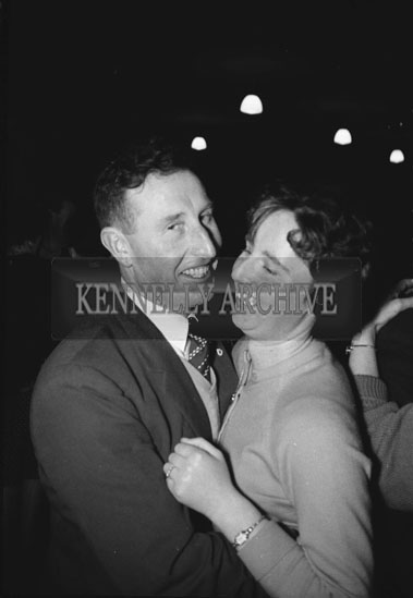 24th January 1962; People enjoying the night at a Ploughing Dance which took place in Ardfert.