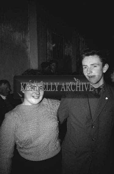 23rd January 1962; People enjoying the night at the Dicks Grove Annual Creamery Dance in Currow. Music at the dance was provided by Michael O'Callaghan and his Orchestra.