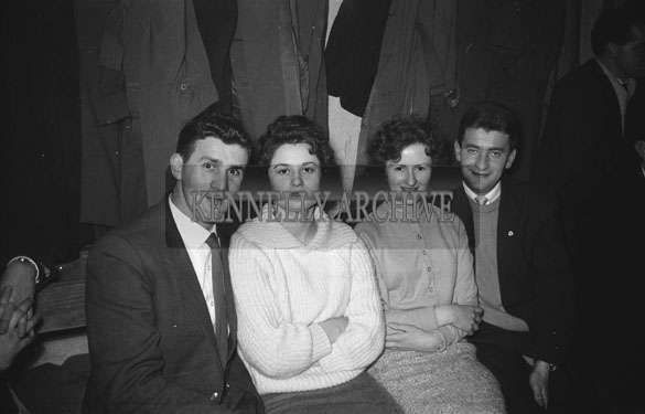 29th January 1962; Dominic Moriarty and Anna Fitzgerald (left) enjoying the night at the West Kerry Farmers Dance which was held in Castlegregory.