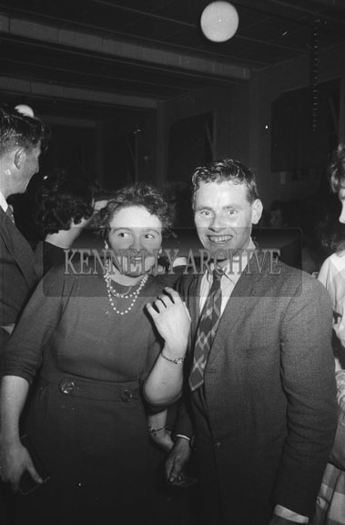 1st November 1962; People enjoying the night at a dance which took place in Firies. Music at the dance was provided by The Rhythm Aces.