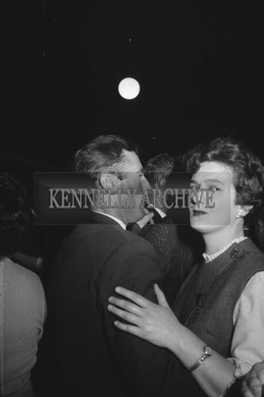 7th November 1962; People enjoying the night at a dance which took place in Abbeydorney. Music at the dance was provided by the Western Star Ceilí Band.