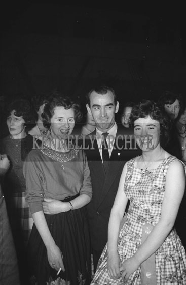 29th January 1962; People enjoying the night at a dance which was held at the CYMS in Tralee.