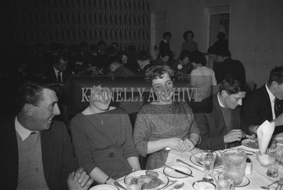 31st January 1962; People enjoying the night at an Ardfert Social which was held at the Hotel Manhattan.