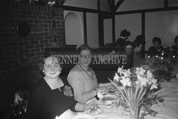 3rd February; A group of ladies at the Irish Countrywomen's Association Dinner in Benners Hotel, Tralee.