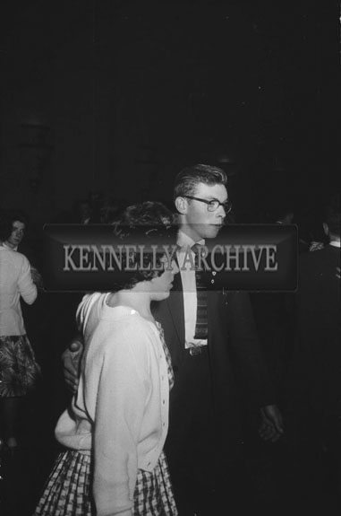 7th November 1962; People enjoying the night at a Polka Competition which was organised by the Desmond Cycling Club and was held at the Astor Ballroom. Music at the dance was provided by the Asseroe Ceilí Band.