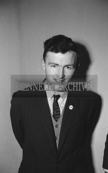 14th February 1962; A photo of a man at a Valentines Dance which took place in Rathmore.