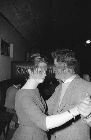15th February 1962; People enjoying themselves at a Dance which took place in Duagh. Music at the dance was provided by the Western Star Ceilí Band.