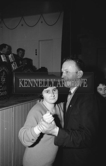 15th February 1962; People enjoying themselves at a dance which took place in Abbeyfeale. Music at the dance was provided by the Gallowglass Ceilí Band.