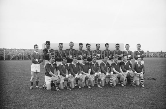 11th November 1962; The Feale Rangers team at the Senior County Championship Final Replay when they were beaten by John Mitchels 1-9 to 0-5. Included on the team were: Tony Guerin, Bryan McMahon, Ned Purtill, Lian Hanrahan, Kevin Dillon, Paud O'Donoghue, Seán Guerin, Michael 'Dropsey' Enright, Teddy O' Sullivan, Bernie O'Callaghan (capt), Dan McAuliffe, Billy Doran, Finbar Carrig, Gary McMahon, John Martin Heaphy. Subs: M. Walsh, P. Dillon, B. O'Connor, P. Larkin and Alan Kennelly.