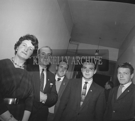 November 1962; A photo taken at a Ballymacelligott Social which took place at the Hotel Manhattan.