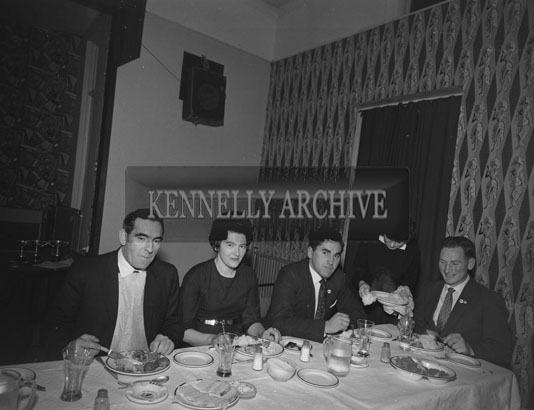 November 1962; A photo taken at a Macra Ne Feirme presentation dinner which took place at the Hotel Manhattan.
