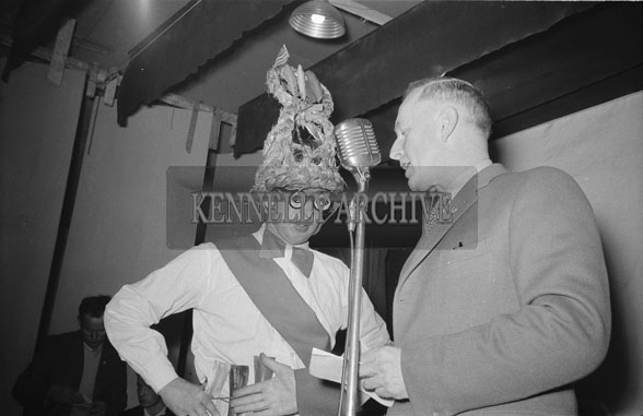 4th February 1962; One of the Biddy's on stage at a dance which took place in Milltown.