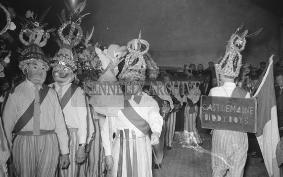 4th February 1962; A photo taken of the Biddy's at a dance which took place in Milltown.