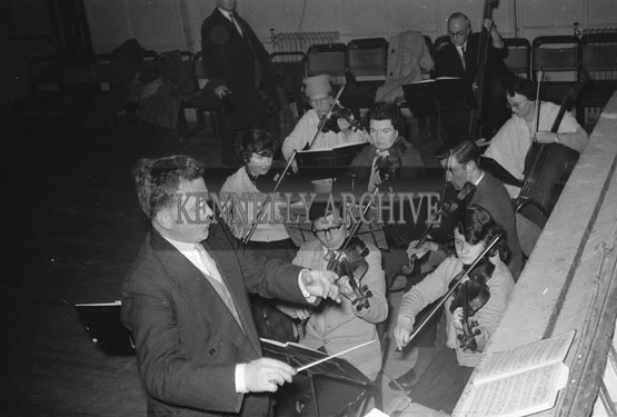 February; A photo of the orchestra from the musical 'Showboat'.