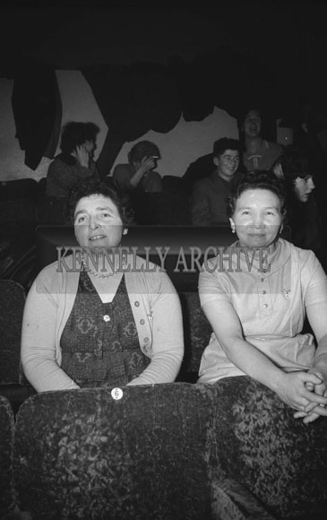 7th February; People enjoying themselves at a Ploughing Dance which took place in Castleisland. The music at the dance was provided by The Rhythm Aces.