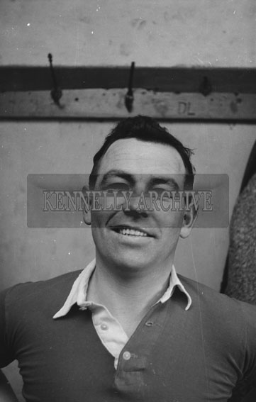 17th February 1962; George White of Cork poses for the camera after the Munster Trials where the Kerry team took on the Rest of Munster in a match at Austin Stacks Park. The Kingdom were defeated by the Rest of Munster 2-5 to 1-6.