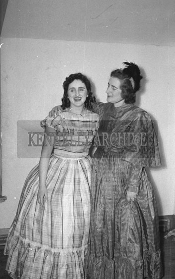 February 1962; Members of the Tralee Light Society who staged a performance of the musical 'Showboat' at the CYMS in Tralee.