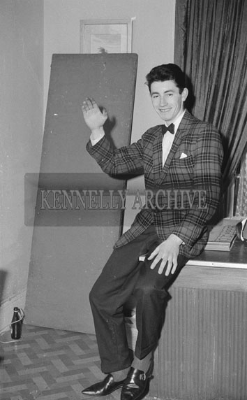 February 1962; A photo of a musician taken at the studio in Tralee.