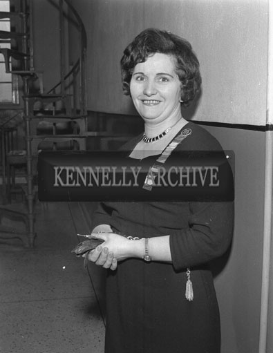 9th February 1962; A photo taken of Mrs Sheila Horan at an ICA Committee Meeting which took place at the Tralee Technical School.