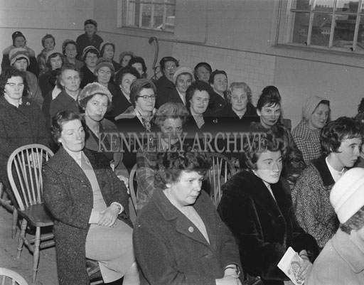 9th February 1962; A photo taken at an ICA Committee Meeting which took place at the Tralee Technical School.