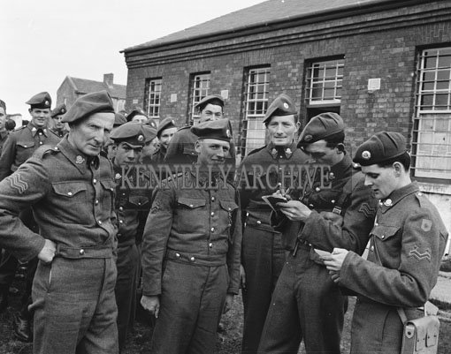 24th February 1962; Members of the FCA during an exercise at Ballymullen Barracks in Tralee.