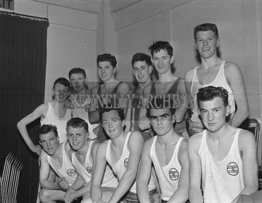 3rd March 1962; Members of the ESB Basketball Team who were defeated by the FCA team 38-13 in the Munster Blitz Title Final at the CYMS in Tralee.