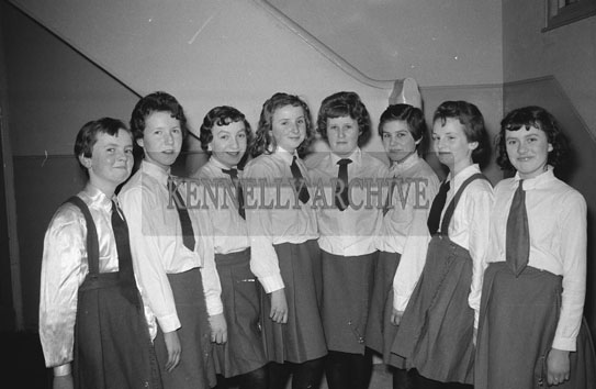 February 1962; A photo taken at a panto which took place in Killorglin.